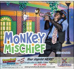 Monkey Mischief Calendar  Spiral