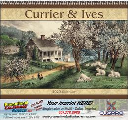Currier & Ives Promotional Calendar  Spiral