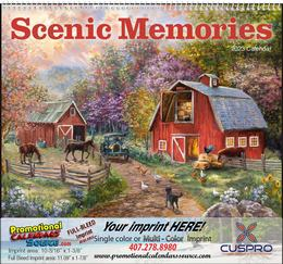 Scenic Memories Illustrations Calendar, , Spiral