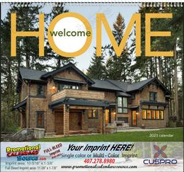 Welcome Home Real Estate Promotional Calendar  Spiral