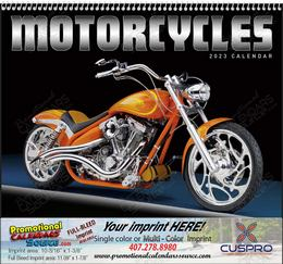 Custom Motorcycles Calendar With Spiral Binding