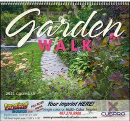 Garden Walk Wall Calendar Spiral