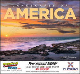 Landscapes of America Scenic Calendar, Stapled