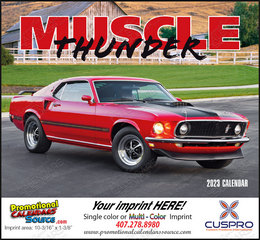 Muscle Thunder Promotional Calendar  Stapled