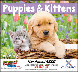 Puppies & Kittens Promotional Calendar, , Stapled