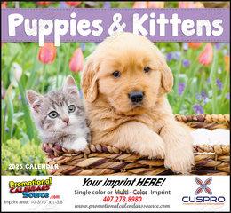 Puppies & Kittens Promotional Calendar, Stapled