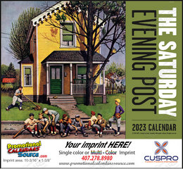 The Saturday Evening Post Promotional Calendar  Stapled