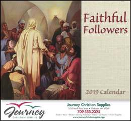 Faithful Followers Religious Promotional Calendar  Stapled
