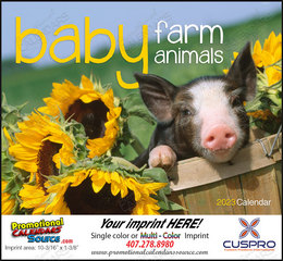 Baby Farm Animals Promotional Calendar  Stapled