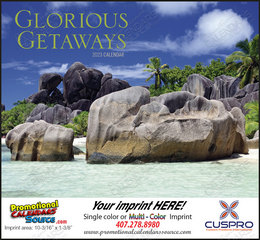 Glorious Getaways Promotional Scenic Calendar  Stapled