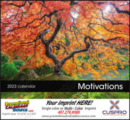 Motivations Calendar Stapled w/Drop Ad