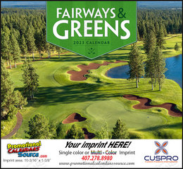 Fairways & Greens - Promotional Calendar  Stapled