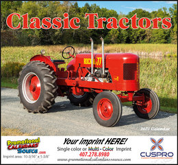 Classic Tractors Promotional Calendar 2019 Stapled