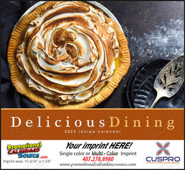 Delicious Dining Promotional Calendar  Stapled