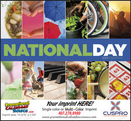 National Day Celebration Calendar, Stapled