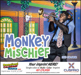 Monkey Mischief Promotional Calendar  Stapled