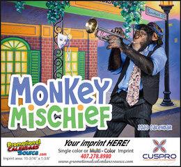 Monkey Mischief Promotional Calendar  Stapled