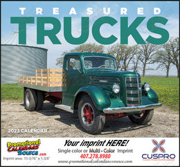 Treasured Trucks - Promotional Calendar  Stapled