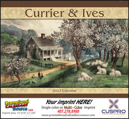 Currier & Ives Promotional Calendar  Stapled