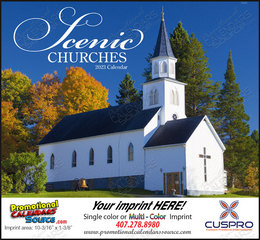 Scenic Churches Wall Calendar, Stapled