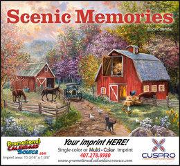 Scenic Memories Illustrations Calendar, 2019, Stapled