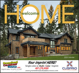 Welcome Home Promotional Calendar, Stapled