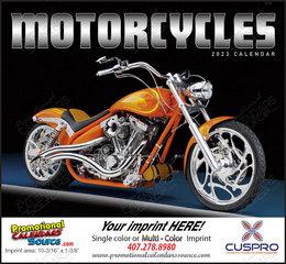 Custom Motorcycles Calendar Stapled