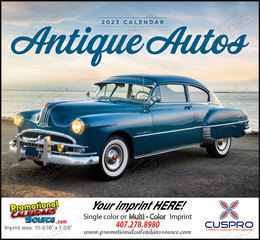 Antique Autos Promotional Calendar  Stapled