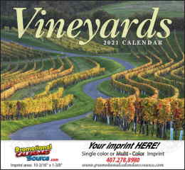 Vineyards from Around the World Promotional Calendar, Stapled