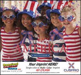 Celebrate America Customized Calendar, Stapled
