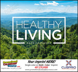 Healthy Living Lifestyle Calendar, 11x19