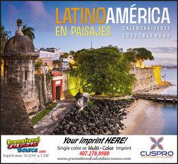 Latinoamerica en Paisajes Promotional Calendar  Stapled
