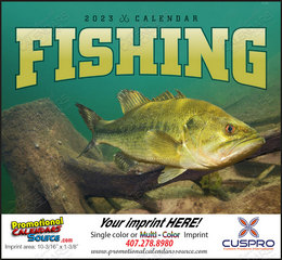 Fishing Promotional Calendar  Stapled