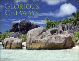 Scenic Glorious Getaways Calendar With  Window Ad-Imprint