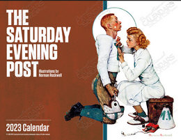 The Saturday Evening Post Window Calendar, Stapled