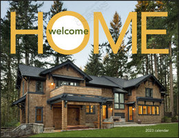 Welcome Home Calendar With Window-Ad Imprint, Stapled