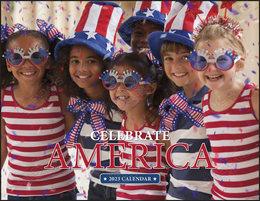 Celebrate America Calendar With  Window Die-Cut Print Area, Stapled, 11x17