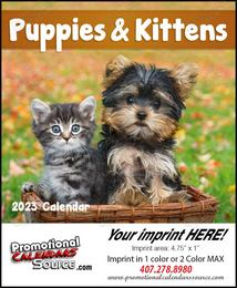 Puppies & Kittens Mini Promotional Calendar