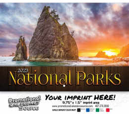 National Parks Wall Calendar  - Stapled