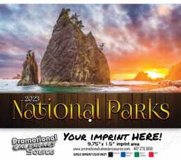 National Parks Wall Calendar  - Stapled