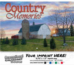 Country Memories Wall Calendar - Stitched