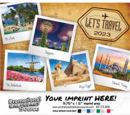 Let's Travel Scenic Wall Calendar Stitched