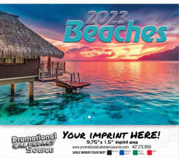 Scenic Beaches Wall Calendar  - Stapled