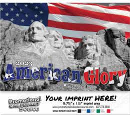 American Glory Wall Calendar  - Stapled