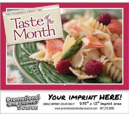 Taste of the Month Wall Calendar  Stapled