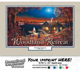 Woodland Retreats Wall Calendar  - Stapled