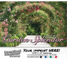 Garden Splendor Wall Calendar  - Stapled