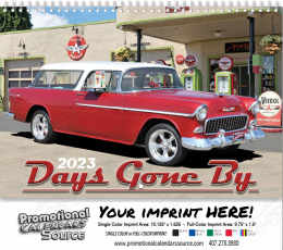 Classic Cars of Days Gone By Wall Calendar  - Spiral