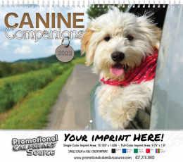Canine Companions Wall Calendar  - Spiral