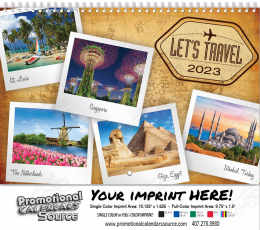 Let's Travel Scenic Wall Calendar Spiral
